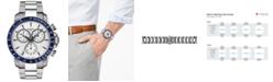 Tissot Men's Swiss Chronograph T-Sport V8 Stainless Steel Bracelet Watch 42.5mm