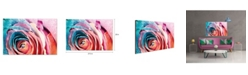 """Chic Home Decor Rosalia 1 Piece Wrapped Canvas Wall Art Rose In Bloom -20"""" x 27"""""""