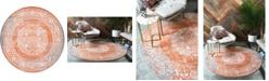 Bridgeport Home Norston Nor4 Terracotta 8' x 8' Round Area Rug