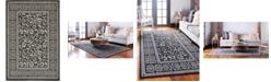 Bridgeport Home Pashio Pas3 Black 6' x 9' Area Rug