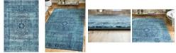 Bridgeport Home Wisdom Wis3 Turquoise 4' x 6' Area Rug