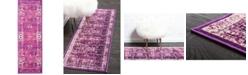 Bridgeport Home Linport Lin1 Lilac 2' x 6' Runner Area Rug
