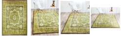 Bridgeport Home Linport Lin7 Green 7' x 10' Area Rug