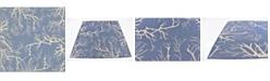Bridgeport Home Pashio Pas6 Navy Blue 6' x 6' Square Area Rug