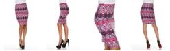 White Mark Kaleidoscope Craze Print 'Victoria' Pencil Skirt