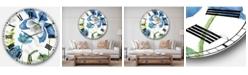 Designart Cabin and Lodge Oversized Metal Wall Clock