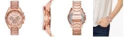 Michael Kors Women's Chronograph Whitney Rose Gold-Tone Stainless Steel Bracelet Watch 45mm