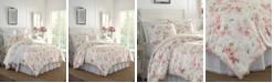 Laura Ashley Wisteria Velour King Comforter Set