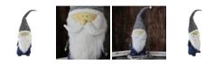 "Northlight 27.5"" Blue Elegant Standing Blushing Santa Gnome Tabletop Decoration"