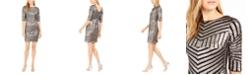 R & M Richards Petite Sequined Sheath Dress