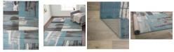 "Main Street Rugs Alba Alb370 Blue 3'3"" x 5' Area Rug"