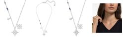 "Swarovski Silver-Tone Crystal Star Pendant Necklace, 14-7/8"" + 2"" extender"
