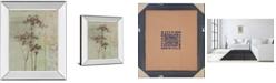 """Classy Art Silver Foliage II by Ella K. Mirror Framed Print Wall Art, 22"""" x 26"""""""