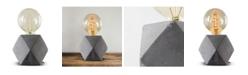 Crystal Art Gallery American Art Decor Modern Stylish Geometric Hexagon Concrete Cement Accent Table Lamp
