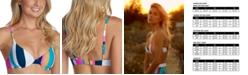 Raisins Juniors' Belle Mar Striped Underwire Bikini Top