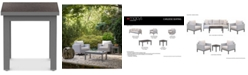 Furniture Carleese Outdoor End Table with Cal Sil Top
