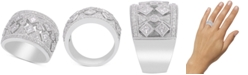 Macy's Diamond Filigree Wide Band Statement Ring (1-1/4 ct. t.w.)