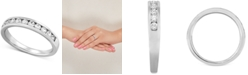 Forever Grown Diamonds Lab Created Diamond Channel-Set Band (1/2 ct. t.w.) in Sterling Silver