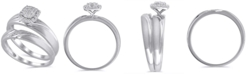 Macy's Certified Diamond (1/6 ct. t.w.) Bridal Set in 14K White Gold