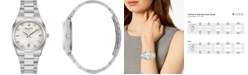 Bulova Women's Surveyor Diamond-Accent Stainless Steel Bracelet Watch 34mm, Created for Macy's