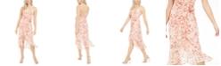 Bardot Surplice Floral-Print Midi Dress