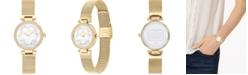 COACH Women's Park Gold-Tone Stainless Steel Mesh Bracelet Watch 26mm