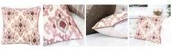 Homey Cozy Stella Woven Cotton Square Decorative Throw Pillow