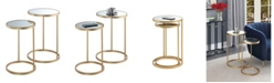Convenience Concepts Gold Coast Mirrored Nesting End Tables