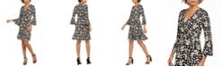 Robbie Bee Petite Bell-Sleeve Wrap Dress
