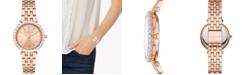 Michael Kors Women's Darci Rose Gold-Tone Stainless Steel Bracelet Watch 34mm