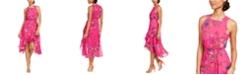 Taylor Floral Clip Dot High-Low Dress