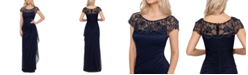 XSCAPE Embellished-Neck Gown