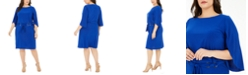 MSK Plus Size Belted Tulip-Sleeve Dress