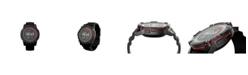 PowerWatch Men's Series 2 Black Silicone Strap Watch 47mm