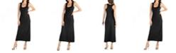 24seven Comfort Apparel Scoop Neck Maxi Dress with Racerback Detail