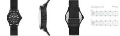 Skagen Women's Fisk Black-Tone Stainless Steel Mesh Bracelet Watch 38mm