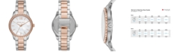 Michael Kors Layton Three-Hand Two-Tone Stainless Steel Watch