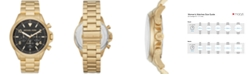 Michael Kors Gage Chronograph Gold-Tone Stainless Steel Watch