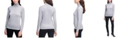 Calvin Klein Solid Lurex Turtleneck Sweater