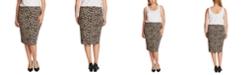 Vince Camuto Plus Size Animal-Print Tube Skirt