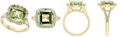EFFY Collection EFFY® Green Quartz (3-7/8 ct. t.w.) & Diamond (1/2 ct. t.w.) Ring in 14k Gold