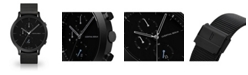 Lilienthal Berlin All Black Chronograph with Black-Tone Stainless Steel Mesh Bracelet Watch, 42mm