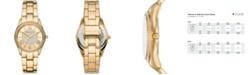 Michael Kors Women's Heather Three-Hand Gold-Tone Alloy Bracelet Watch 34mm