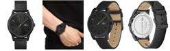 Lacoste Men's Kyoto Black Leather Strap Watch 43mm