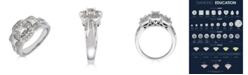 Macy's Diamond 3-Stone Princess Cut (1 ct. t.w.) Ring in 14K White Gold