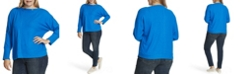 Vince Camuto Women's Plus Size Dolman Sleeve Cozy Top