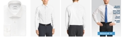 Calvin Klein Calvin Klein Men's STEEL Classic-Fit Non-Iron Performance Herringbone Spread Collar Dress Shirt