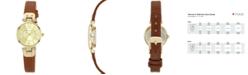 Anne Klein Women's Brown Leather Strap Watch 10-9442CHHY