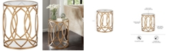 Furniture Amir Metal Eyelet Accent Table