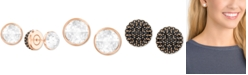 Swarovski Rose Gold-Tone Pavé Crystal Front & Back Earrings